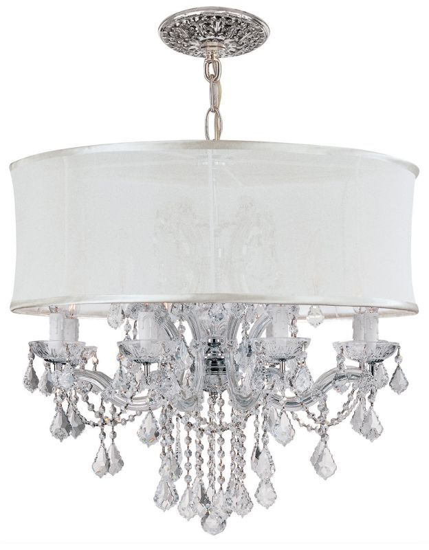 "Crystorama Lighting Group 4489-SMW-CLS Brentwood 12 Light 30"" Wide"