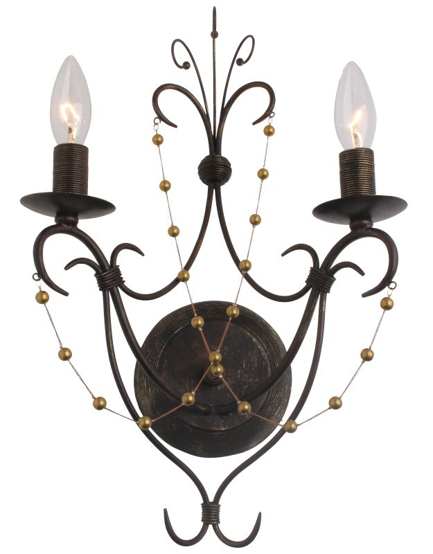 Crystorama Lighting Group 452 Angelina 2 Light Candle Style Double Sale $87.10 ITEM: bci2362461 ID#:452-EB UPC: 633779024306 :
