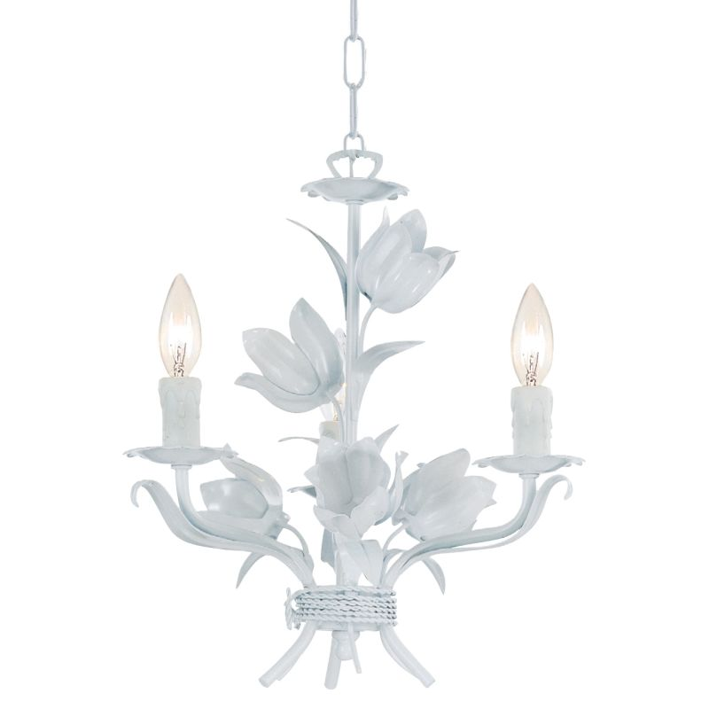 "Crystorama Lighting Group 4813 Southport 3 Light 14"" Wide Wrought Iron"
