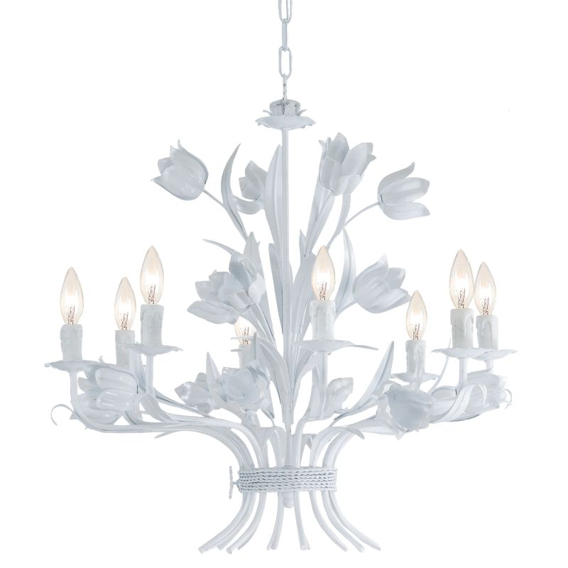 "Crystorama Lighting Group 4818 Southport 8 Light 24"" Wide Candle Style"