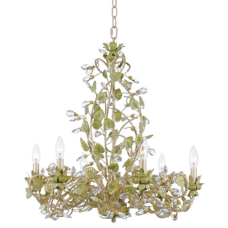 "Crystorama Lighting Group 4846 Josie 6 Light 25"" Wide Candle Style"