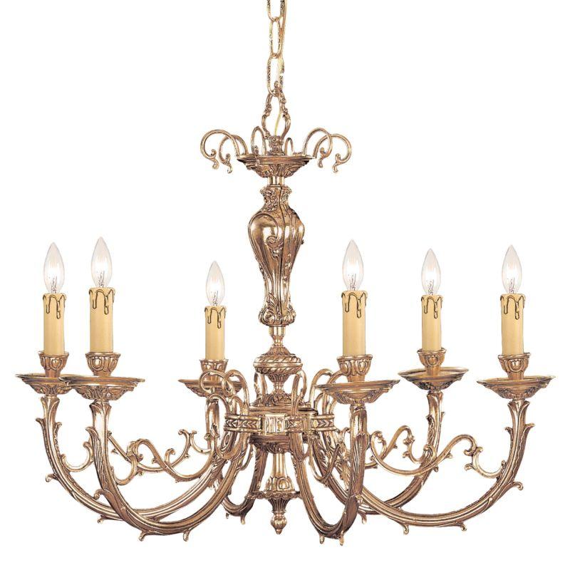 "Crystorama Lighting Group 486 Etta 6 Light 28"" Wide Cast Brass Candle"