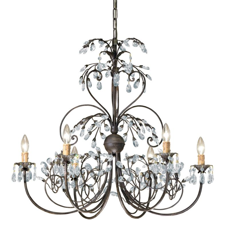 "Crystorama Lighting Group 4926 Victoria 6 Light 30"" Wide Candle Style"