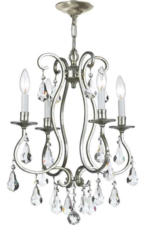 "Crystorama Lighting Group 5014-CL-MWP Ashton 4 Light 16"" Wide Steel"
