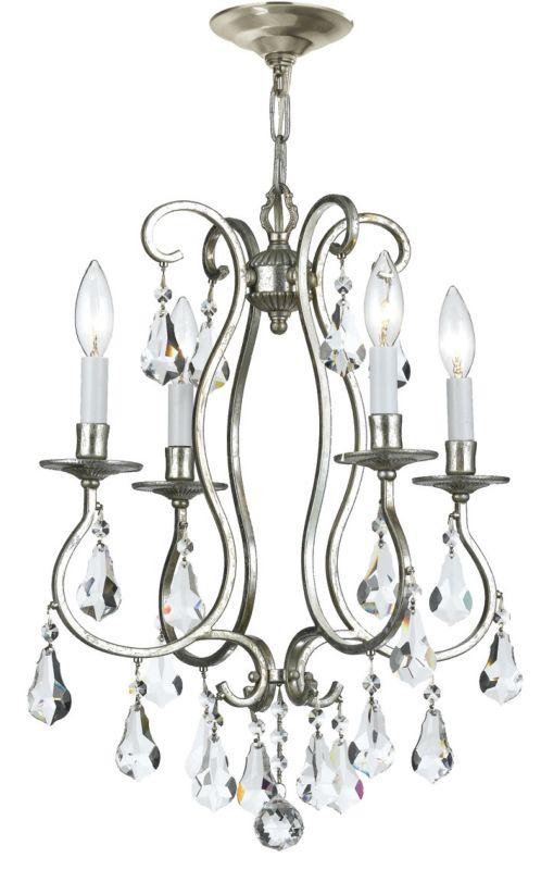 "Crystorama Lighting Group 5014-CL-MWP Ashton 4 Light 16"" Wide Steel"