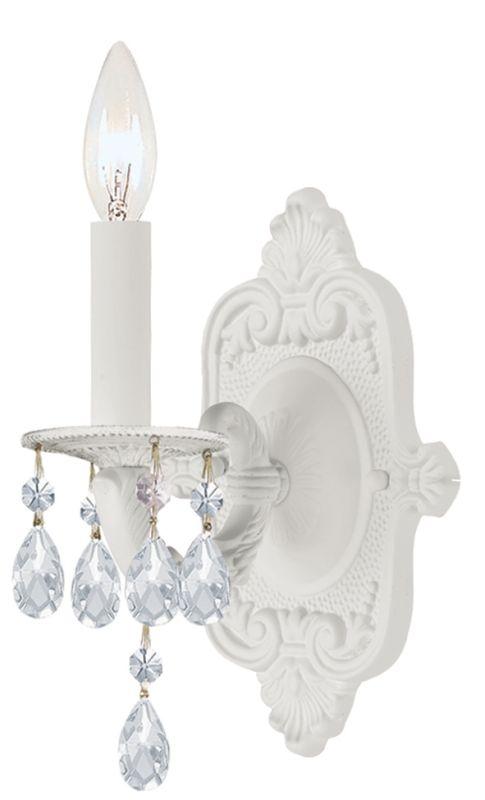 Crystorama Lighting Group 5021-CL-SAQ Paris Flea Market 1 Light Candle