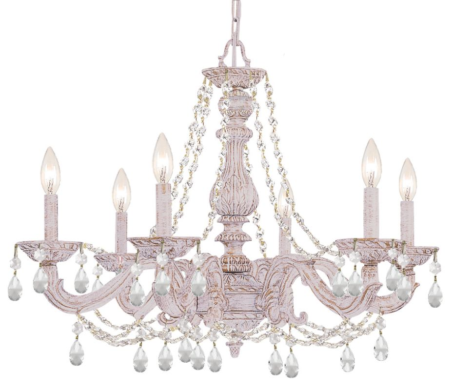 """Crystorama Lighting Group 5026-CL-S Sutton 6 Light 28"""" Wide Wrought"""