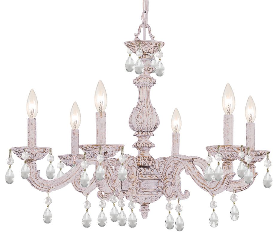 """Crystorama Lighting Group 5036-CL-MWP Sutton 6 Light 28"""" Wide Wrought"""