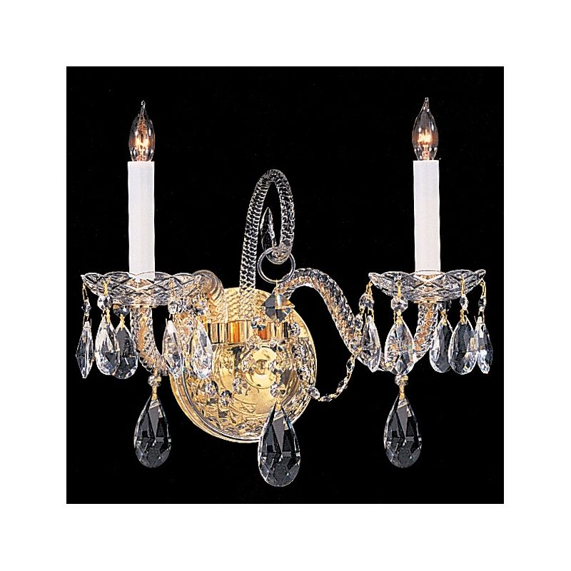 Crystorama Lighting Group 5042-CL-S Traditional Crystal 2 Light Candle