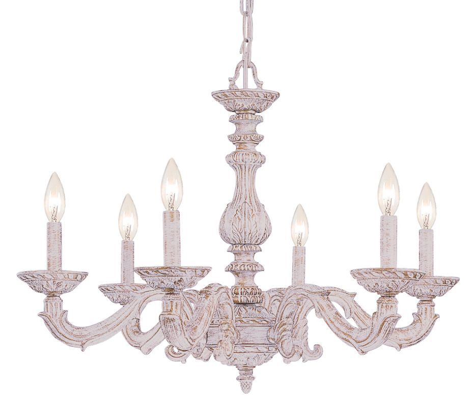 "Crystorama Lighting Group 5126 Sutton 6 Light 28"" Wide Wrought Iron"
