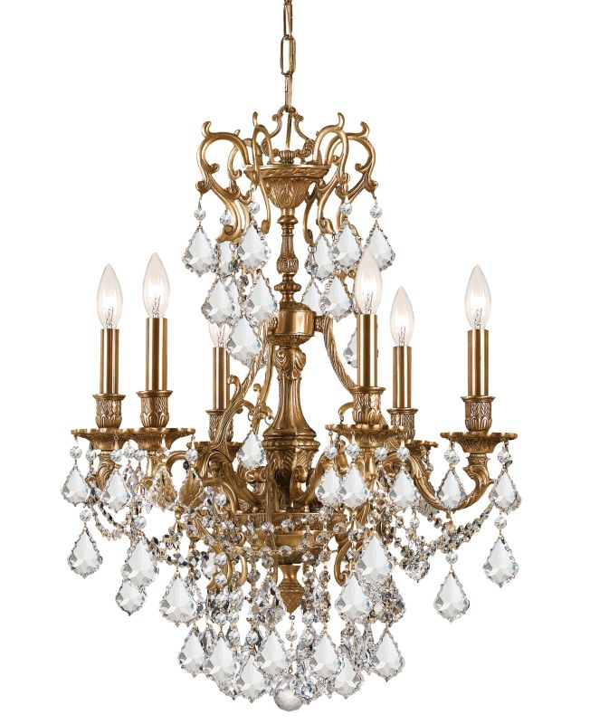 """Crystorama Lighting Group 5146-CL-MWP Yorkshire 6 Light 21"""" Wide Cast"""