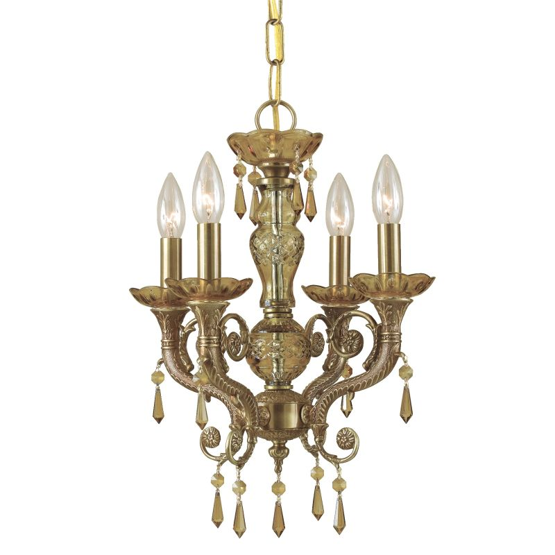 "Crystorama Lighting Group 5174-GT-MWP Regal 4 Light 14"" Wide Cast"