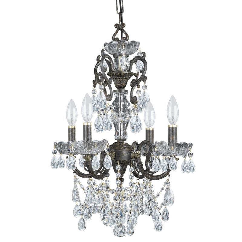 "Crystorama Lighting Group 5194-CL-MWP Legacy 4 Light 15"" Wide Wrought"