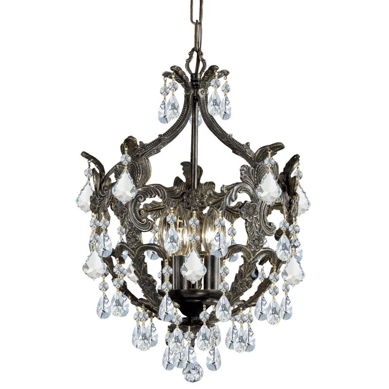 "Crystorama Lighting Group 5195-CL-MWP Legacy 5 Light 14"" Wide Wrought"