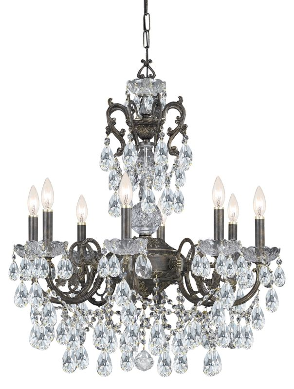 "Crystorama Lighting Group 5196-CL-MWP Legacy 6 Light 23"" Wide Wrought"