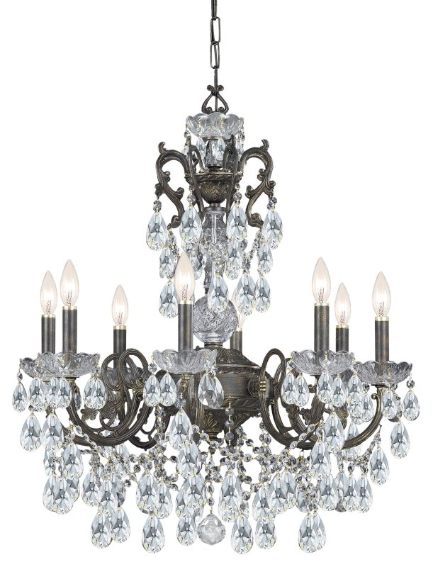 "Crystorama Lighting Group 5196-CL-S Legacy 6 Light 23"" Wide Wrought"