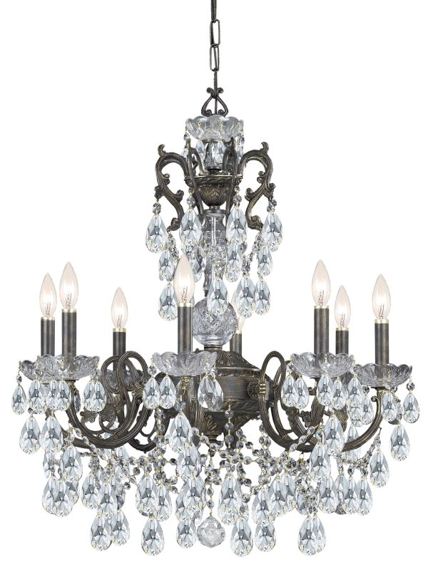 "Crystorama Lighting Group 5196-CL-SAQ Legacy 6 Light 23"" Wide Wrought"