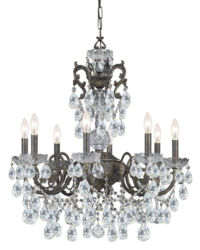 "Crystorama Lighting Group 5198-CL-S Legacy 8 Light 26"" Wide Wrought"