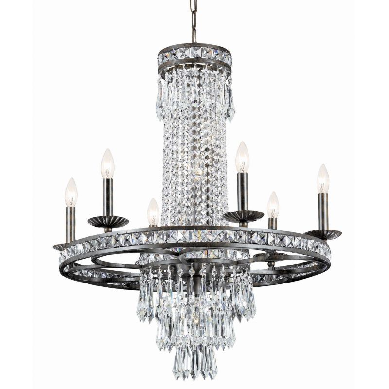 """Crystorama Lighting Group 5266-CL-MWP Mercer 10 Light 27"""" Wide Wrought"""