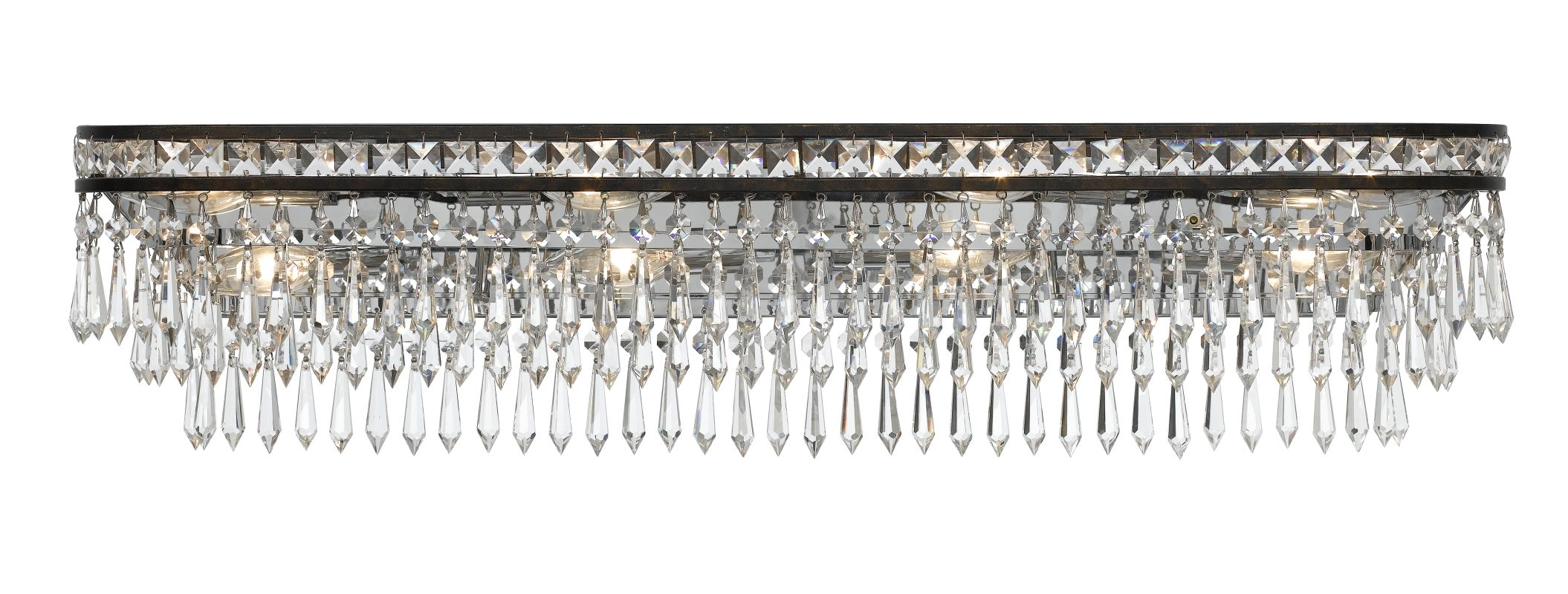 Crystorama Lighting Group 5267 Mercer 8 Light Bathroom Vanity Light