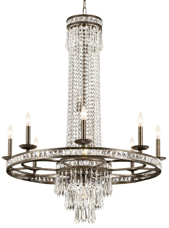 """Crystorama Lighting Group 5268-CL-MWP Mercer 11 Light 36"""" Wide Wrought"""