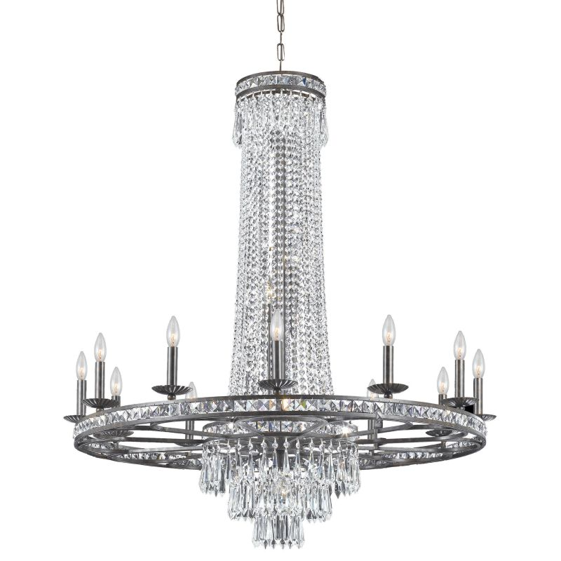"""Crystorama Lighting Group 5269-CL-MWP Mercer 16 Light 43"""" Wide Wrought"""