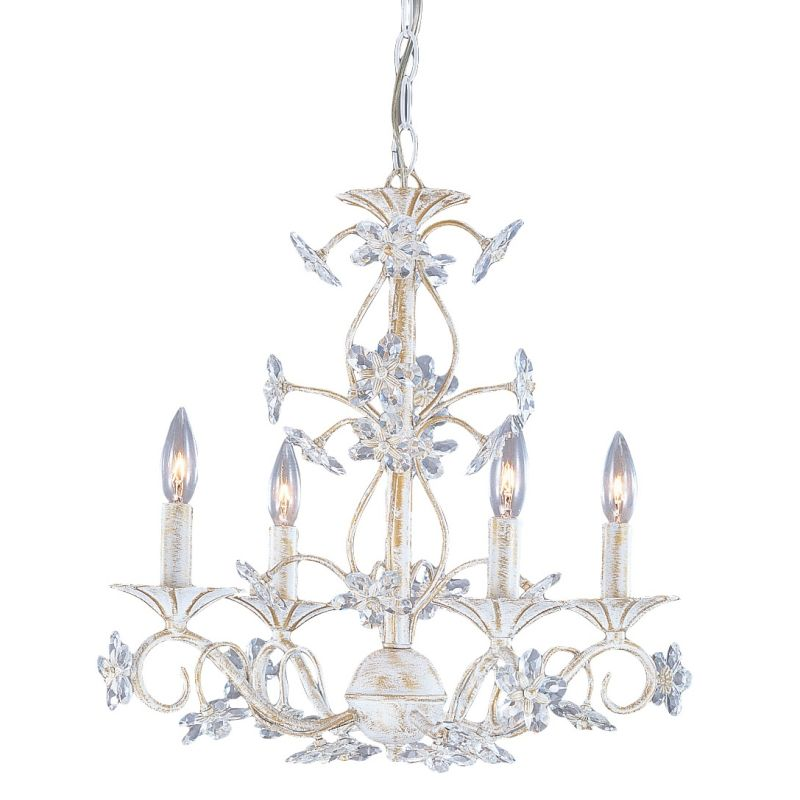 Crystorama Lighting Group 5404 Abbie 4 Light 18&quote Wide Wrought Iron