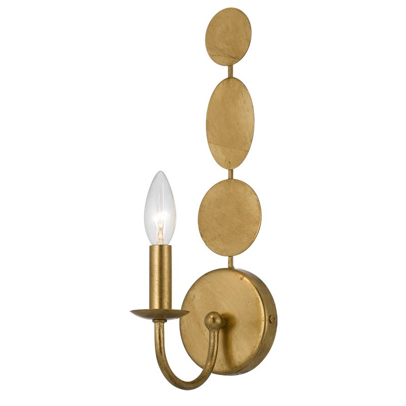 Crystorama Lighting Group 541 Layla 1 Light Wall Sconce Antique Gold