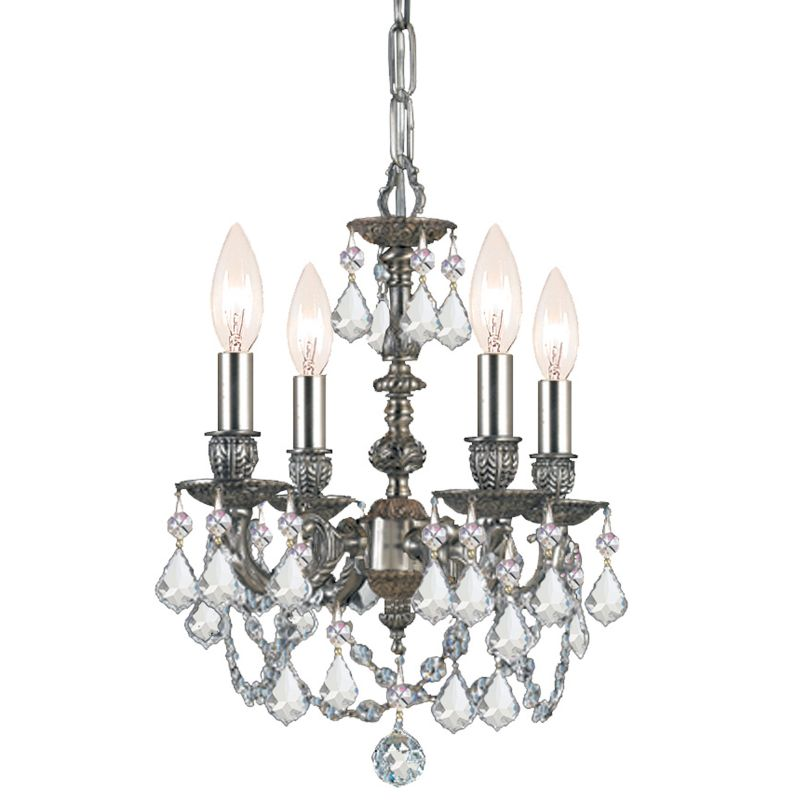 "Crystorama Lighting Group 5504-CL-SAQ Gramercy 4 Light 11"" Wide Cast"