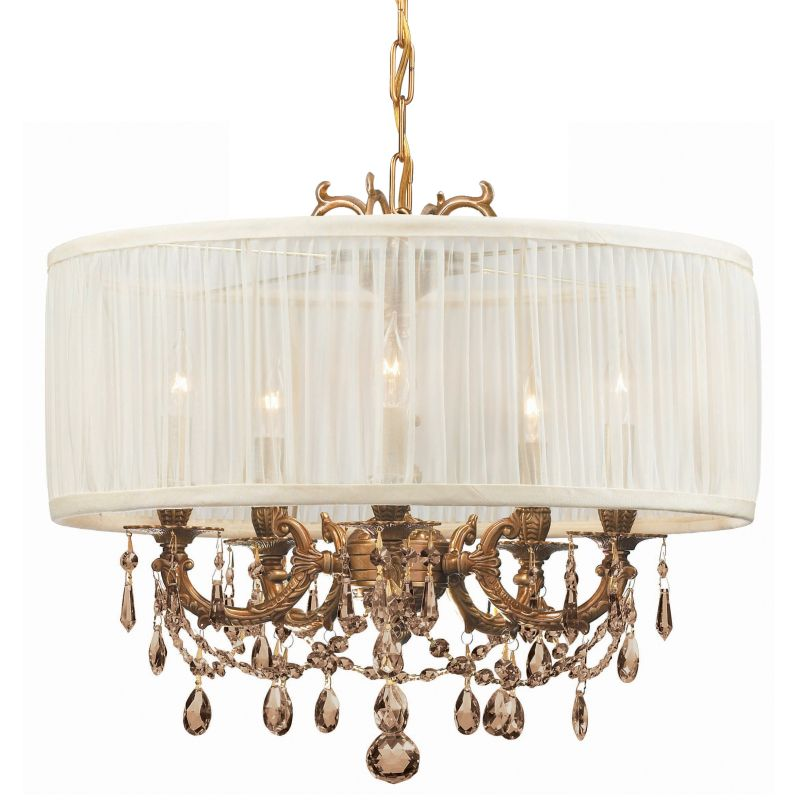 "Crystorama Lighting Group 5535-SAW-GTM Gramercy 5 Light 20"" Wide Cast"