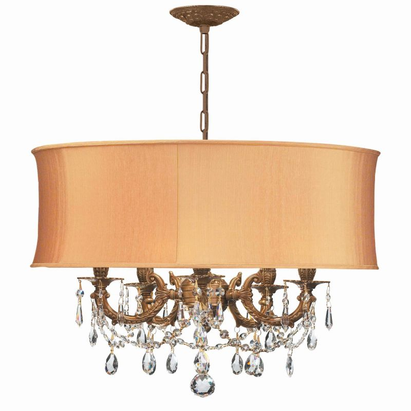 "Crystorama Lighting Group 5535-SHG-CLQ Gramercy 5 Light 20"" Wide Cast"