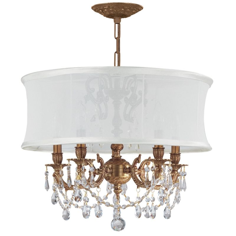"Crystorama Lighting Group 5535-SMW-CLS Gramercy 5 Light 20"" Wide Cast"