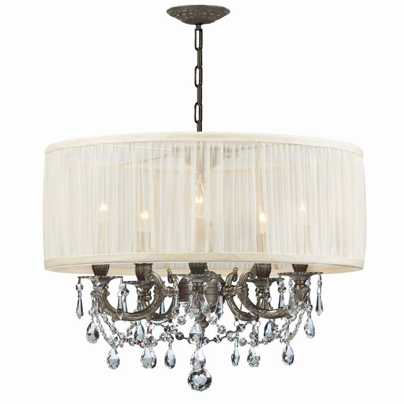 "Crystorama Lighting Group 5535-SAW-CLQ Gramercy 5 Light 20"" Wide Cast"