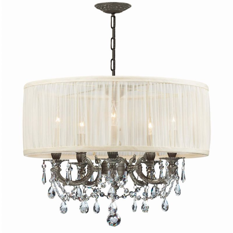 "Crystorama Lighting Group 5535-SAW-CLS Gramercy 5 Light 20"" Wide Cast"