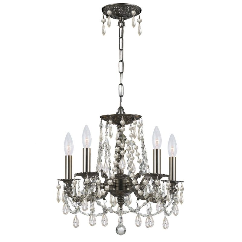 "Crystorama Lighting Group 5545-CL-MWP Gramercy 5 Light 15"" Wide Cast"