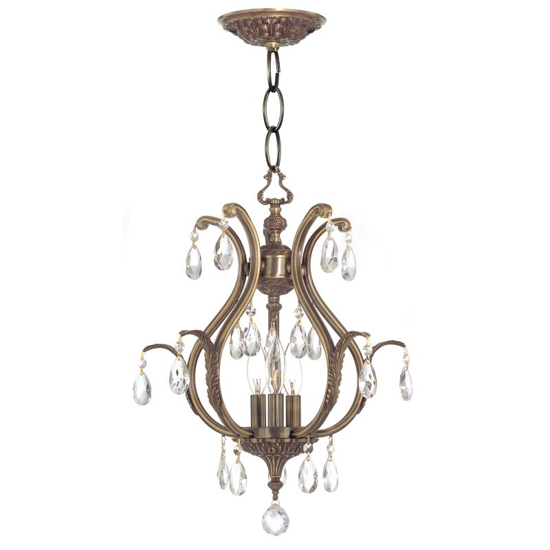 "Crystorama Lighting Group 5560-CL-S Dawson 6 Light 16"" Wide Cast Brass"