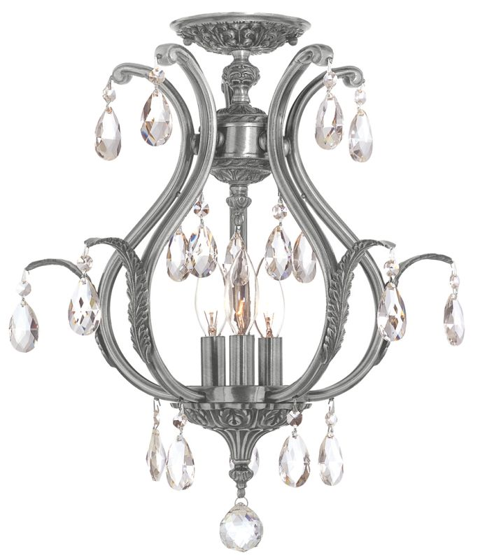 Crystorama Lighting Group 5560-C Dawson 6 Light Semi-Flush Ceiling