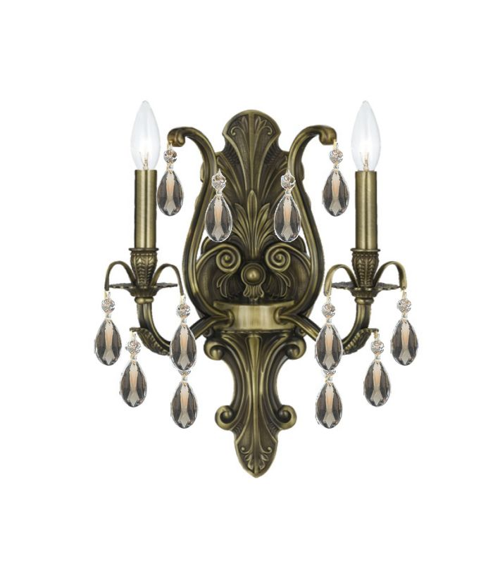 Crystorama Lighting Group 5563-GT-MWP Dawson 2 Light Candle Style Wall