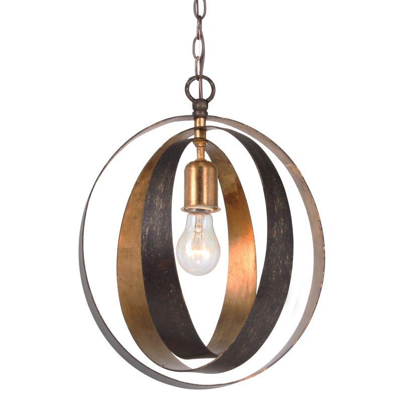 Crystorama 580-EB-GA English Bronze Contemporary Luna Pendant