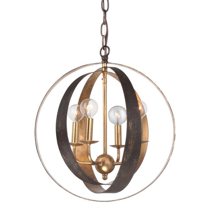 Crystorama 584-EB-GA English Bronze Contemporary Luna Pendant
