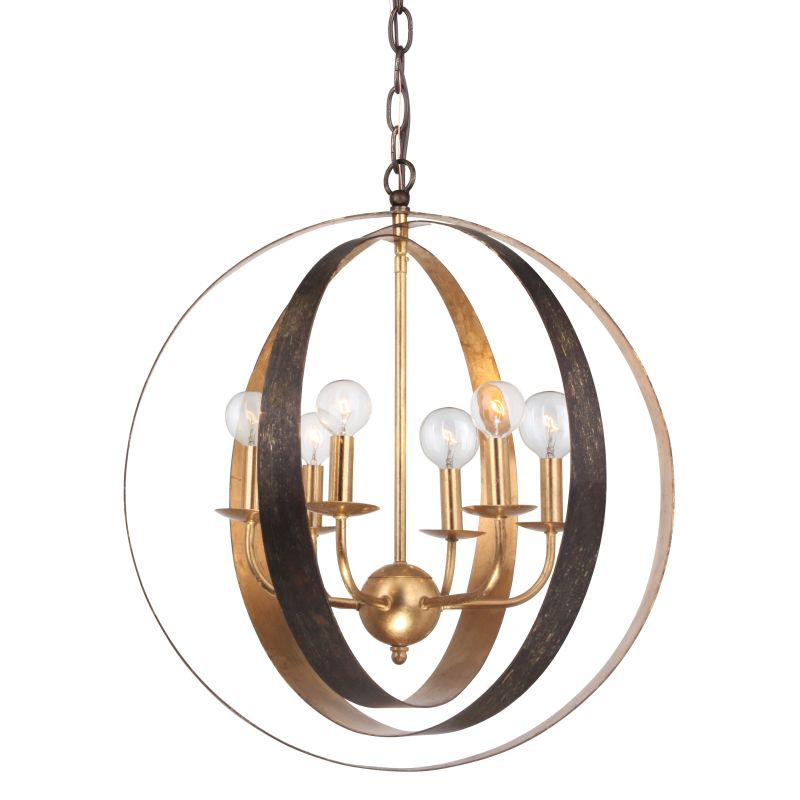 Crystorama 585-EB-GA English Bronze Contemporary Luna Pendant