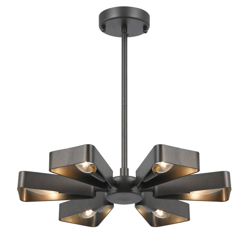 "Crystorama Lighting Group 594 Luna 6 Light 17"" Wide Chandelier Raw"