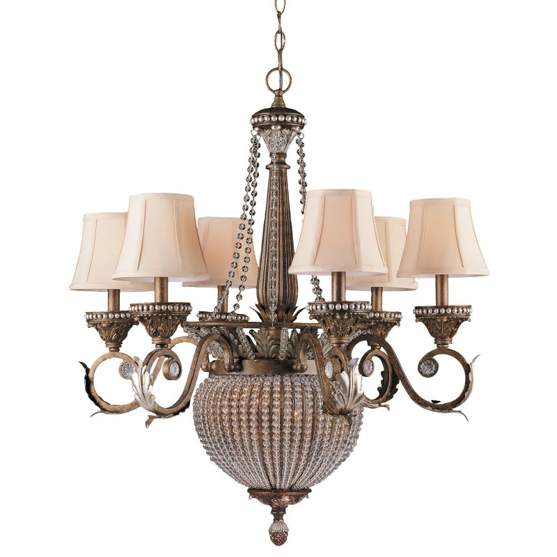 "Crystorama Lighting Group 6726 Roosevelt 8 Light 28"" Wide 2 Tier"