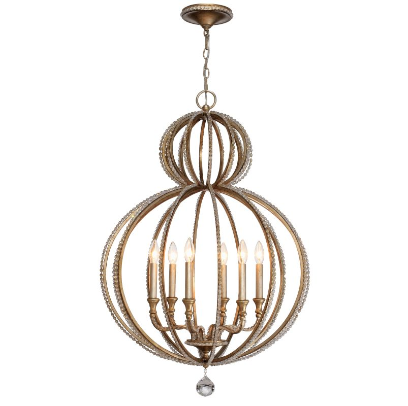 Crystorama 6766-DT Distressed Twilight Contemporary Garland Chandelier