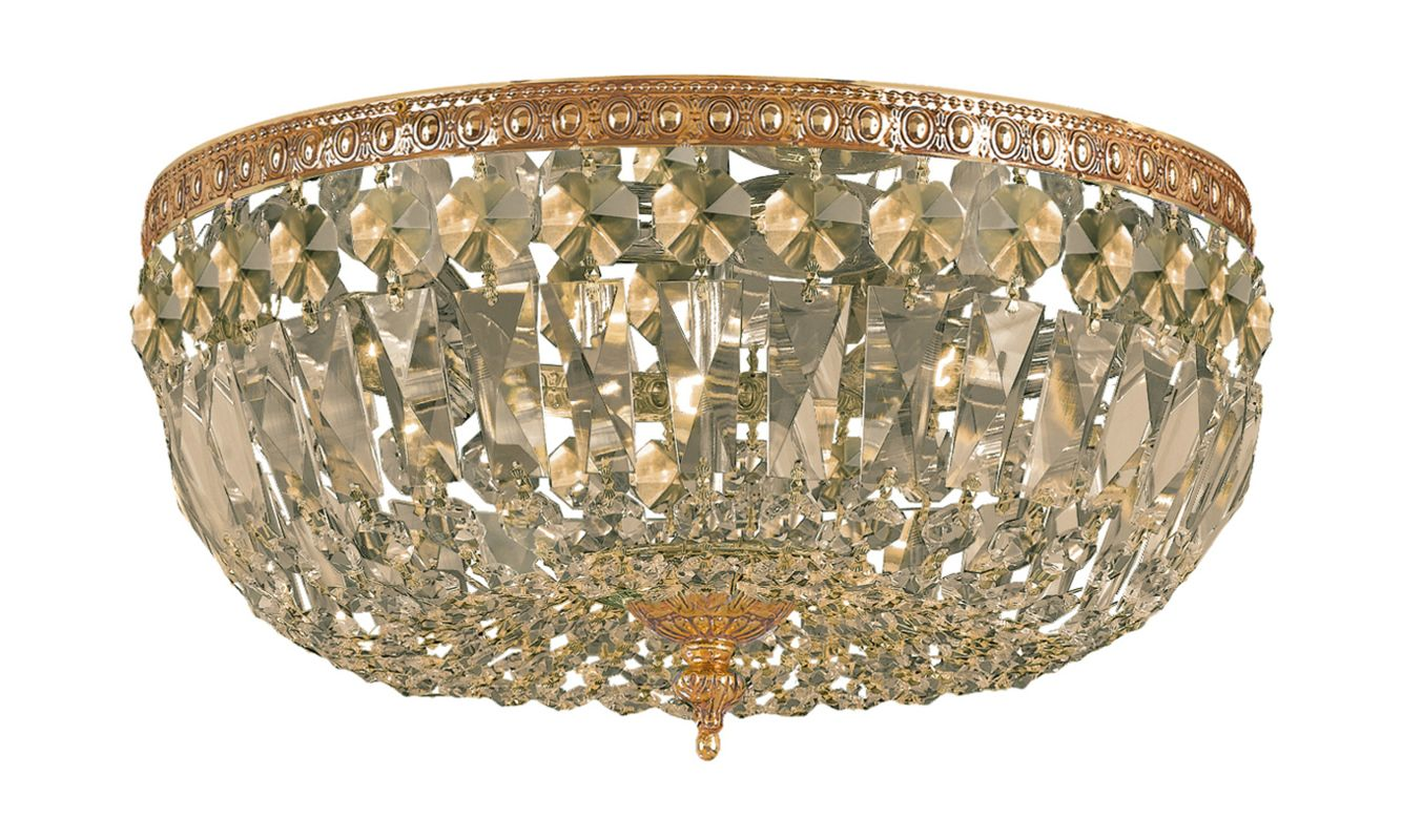 Crystorama Lighting Group 712-C Richmond 3 Light Flush Mount Ceiling