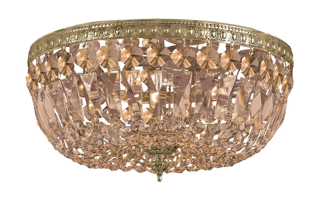 Crystorama Lighting Group 714-GTS Richmond 3 Light Flush Mount Ceiling