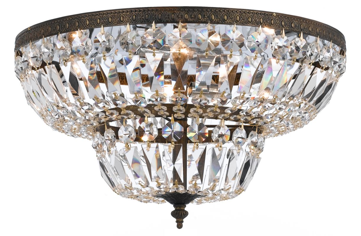 Crystorama Lighting Group 718-C Richmond 4 Light Flush Mount Ceiling