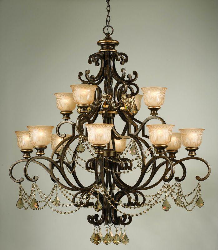 "Crystorama Lighting Group 7512-GTS Norwalk 12 Light 48"" Wide 2 Tier"