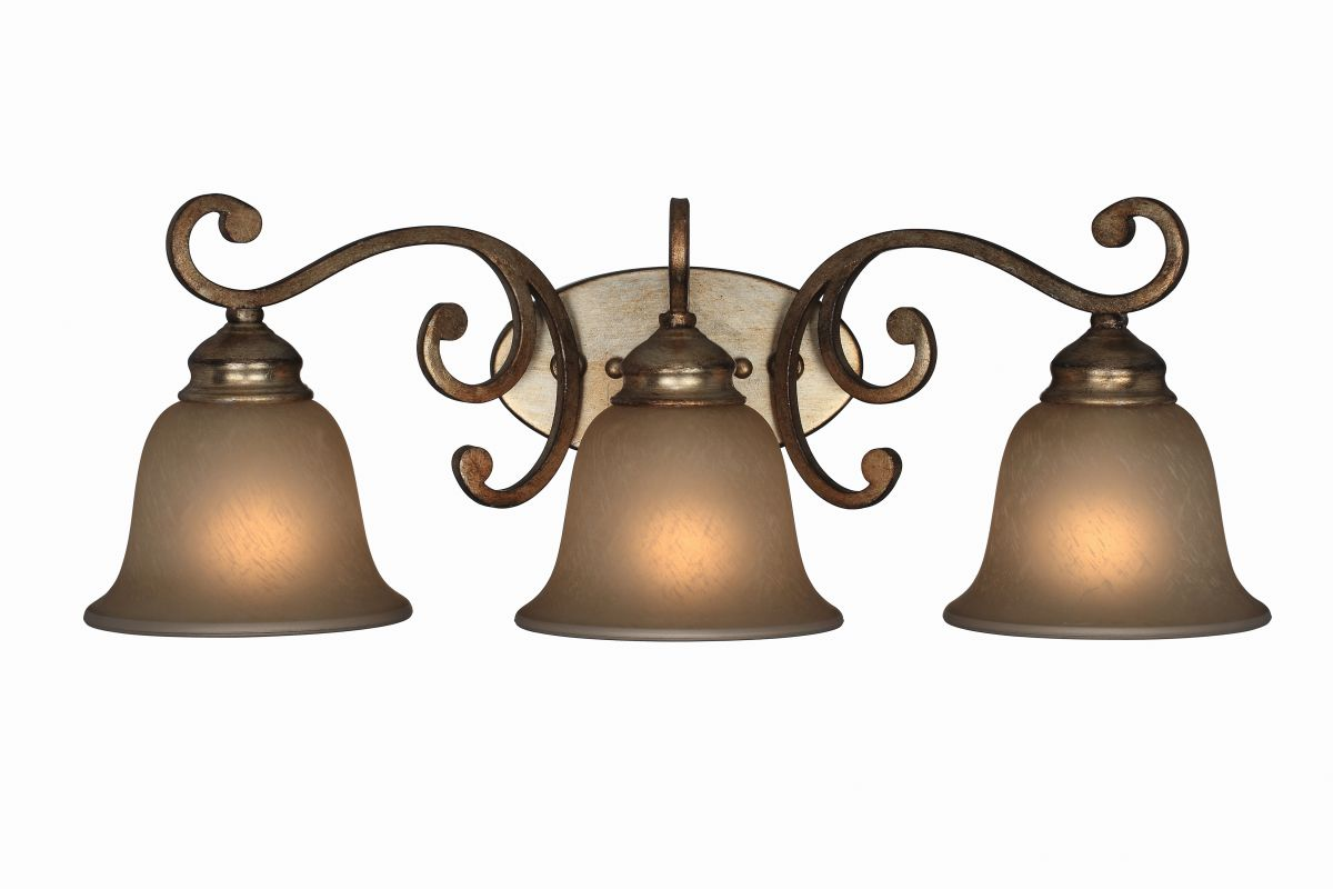 Crystorama Lighting Group 7523 Shelby 3 Light Wall Sconce Distressed