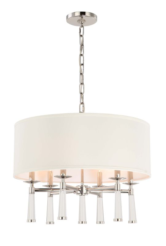 """Crystorama Lighting Group 8866 Baxter 6 Light 24"""" Wide Chandelier with"""